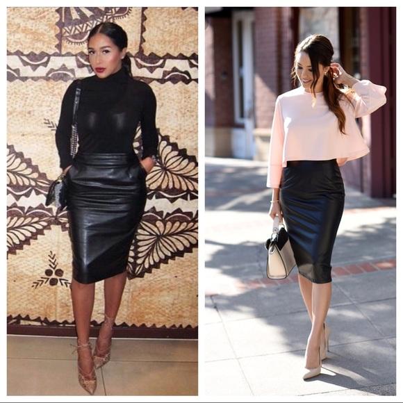 bf85e35f2c Positano Skirts | 100 Leather Pencil Skirt | Poshmark